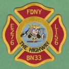 FDNY Brooklyn New York Engine 276 Ladder 156 Fire Company Patch