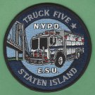New York Police Department Emergency Service Squad 5 Patch