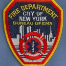 FDNY New York EMS Bureau of Emergency Medical Services Fire Patch
