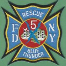 FDNY Staten Island New York Rescue Company 5 Fire Patch