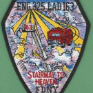 FDNY Queens New York Engine 325 Ladder 163 Company Fire Patch