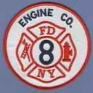 FDNY Manhattan New York Engine Company 8 Fire Patch