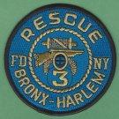 FDNY Bronx-Harlem New York Rescue Company 3 Fire Patch