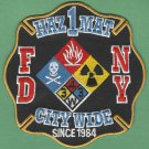FDNY New York HAZ MAT 1 City Wide Fire Patch