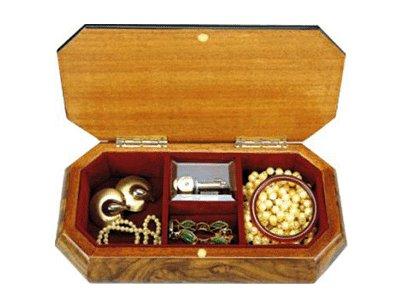 wooden jewellery music box