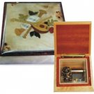 Wooden music jewerlery box
