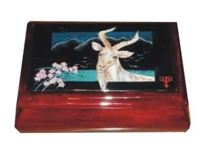 Wooden music jewerlery box
