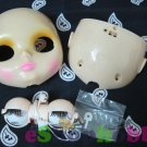 Blythe Eye Mechanism & faceplate Whole Set without eye chip Fit For Factory Doll Transparent skin