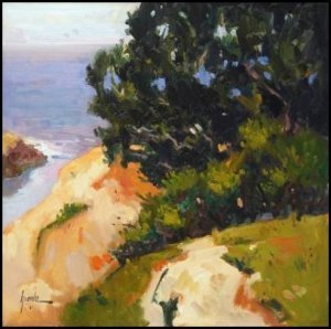 "On the Edge, Mendocino"" California Seascape Plein Air Landscape Oil Painting Greaves Art"