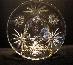 ANCHOR HOCKING Clear American Star of David 3 Toed Footed Candy Nut Dish