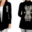 Liberty Wear Floral Burst Cardigan Available in Black