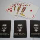 Dead Money Playing Card Black Smoking Skull w/ Sunglasses