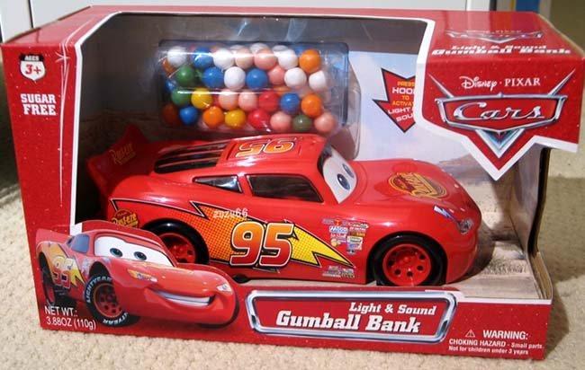 Disney Pixar Cars Lightning McQueen Lights & Sound Gumball Bank