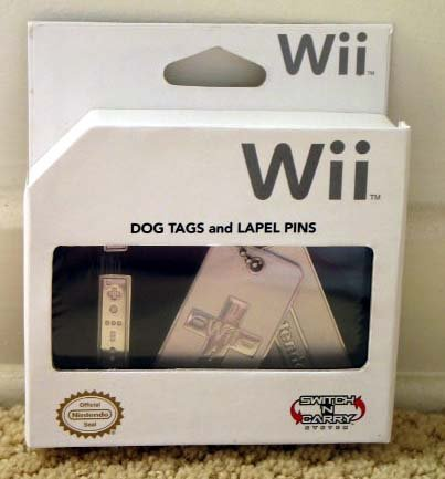 Nintendo Wii Limited Edition Dog Tags & Lapel Pins