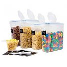 BPA Free Cereal Container Set of 4 - Dry Food Storage