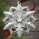Gorham 2015 Annual Sterling Snowflake Ornament NIB
