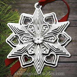 Gorham 2015 Annual Sterling Snowflake Ornament NIB