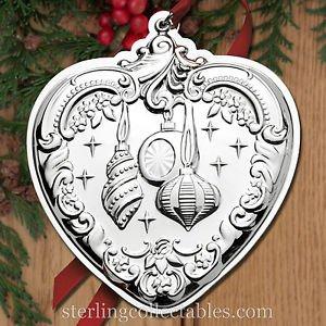 Wallace 2015 Annual Heart Sterling Ornament NIB