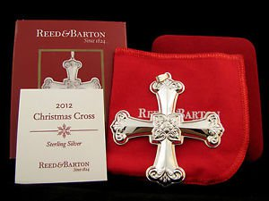 2012 Reed & Barton Cross 42nd Sterling Ornament New