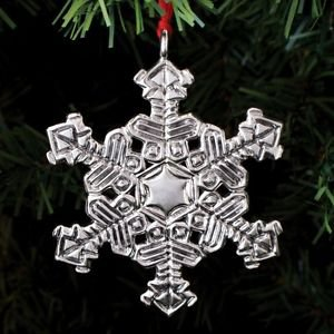 2013 Sterling Collectables Snowflake 1st Edition Sterling Ornament NIB