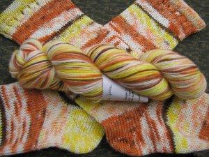 Pumpkin Spice Superwash Sock Yarn