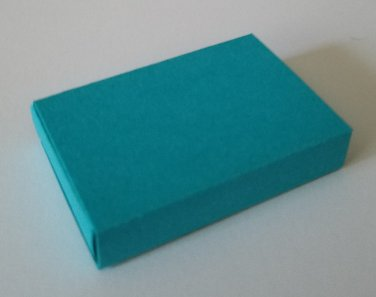 10 Small Blank Empty Matchboxes for pa - TEAL
