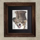Dictionary Print: Charismatic Mixed Breed Dog, Steampunk Dog Art Print