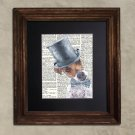 Dictionary Print: Dapper Jack Russell, Steampunk Dog, Dog Art Print
