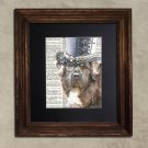Dictionary Print: Steampunk Redoubtable Tibetan Mastiff in Top Hat, Steampunk Dog Art Print