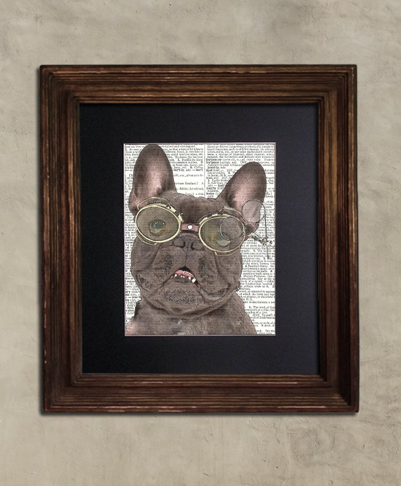 Dictionary Print: Prodigious French Bulldog, Dog Art Print