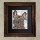 Dictionary Print: Prodigious French Bulldog, Dog Art Print