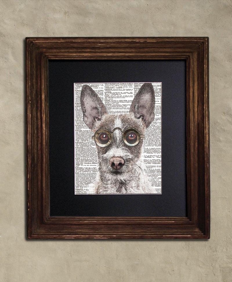 Dictionary Print: Complacent Portuguese Hound, Steampunk Dog Print, Art Print