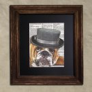 Dictionary Print: Staunch Bulldog, Dog Art Print