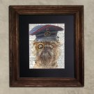 Dictionary Print: Pensive Brussels Griffon, Steampunk Dog Art Print