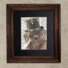 Dictionary Print: Deferential Rhodesian Ridgeback, Steampunk Dog Art Print