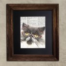 Dictionary Print: Frolicsome Persian Cat in Vintage Eyewear, Steampunk Cat Art Print