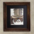 Dictionary Print: Impetuous Exotic Shorthair Cat, Steampunk Cat Art Print
