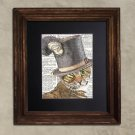 Dictionary Print: Spirited Bengal Cat, Steampunk Cat Artwork
