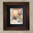 Dictionary Print, Cat Art: Peachy Siberian Cat, Steampunk Cat Art Print