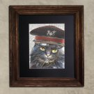 Dictionary Print: Decisive Steampunk Grey Cat, Steampunk Cat Art Print