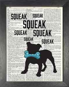 Dictionary Art, Word Art - Dog Design - Squeaky Toy