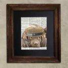 Steampunk Dog - Dictionary Art: Blithe Chocolate Labrador in Porkpie Hat