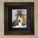 Steampunk Dog - Dictionary Art: Irresistible Bassett Hound in Top Hat