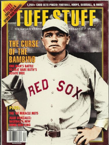 Tuff Stuff Magazine Babe Ruth Cover Sports Card Collectibles