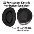Sennheiser replacement ear pads and back plates, fits RS160/170/180 Etc