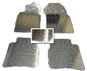 Polished Diamond Plate Aluminum Floor Mats