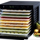 Tribest Sedona Digital Food Dehydrator Black BPA-Free POLY TRAYS SD-P9000 New