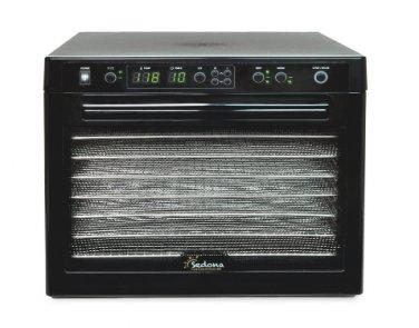 Tribest Sedona Digital Food Dehydrator Black Stainess Steel TRAYS SD-S9000 New