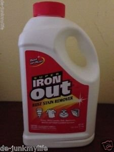 Super Iron Out IO65N Rust Stain Remover 4 Toilet Sink Tub Tile White Laundry
