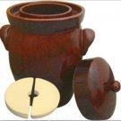 K&K Keramik German Made Gartopf Fermenting Crock Pot Kerazo F2 5 L (1.3 Gal)